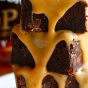 Chocolate Scones with Salted Caramel Sauce