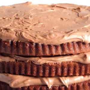 Classic Chocolate Layer Cake with Lime and Chocolate Mousse