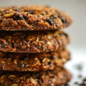 Cacao Nib and Chia Seed Flapjack Cookies – Great British Chefs
