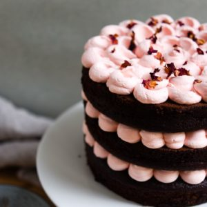 Raspberry and Rose Chocolate Cake – a delicious treat for Mother's Day