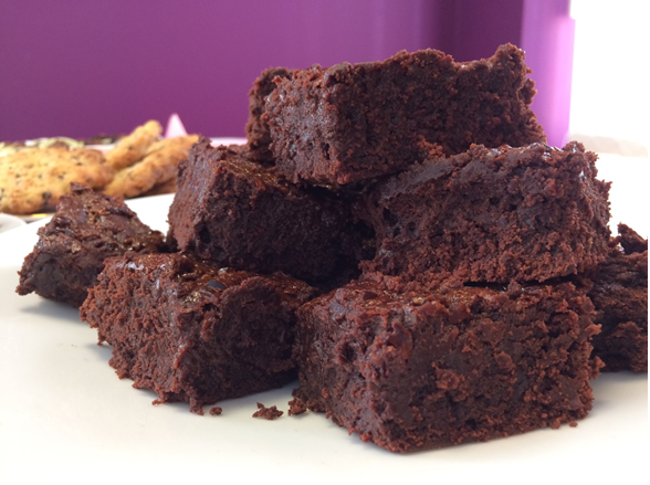 Food Thoughts Salted Caramel and Cacao Nib Brownies