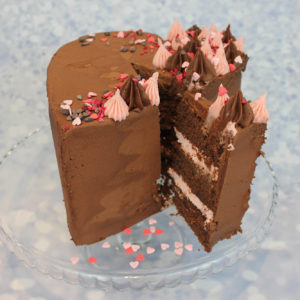 CHOCOLATE & RASPBERRY HEART CAKE FOR YOUR VALENTINE