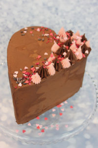 Chocolate Raspberry Layered Heart Cake Food Thoughts Cocoa And